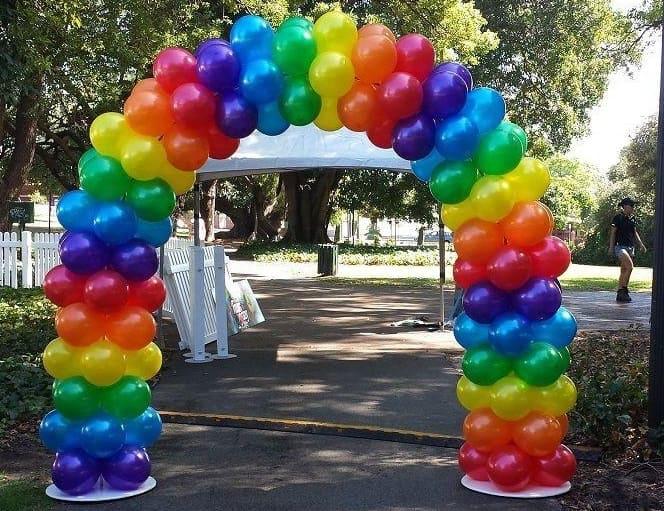 arte com balão como fazer um arco